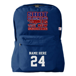 Name & Number Backpack Funny Hockey Design