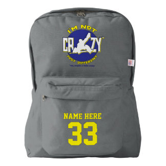 Name & Number Backpack Funny Hockey Goalie Design