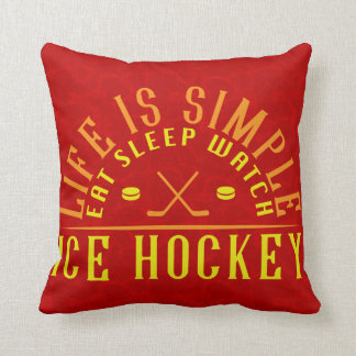 Name & Number Ice Hockey Fan Pillow