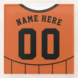 Name & Number Jersey Coaster, Soccer Football Glass Coaster