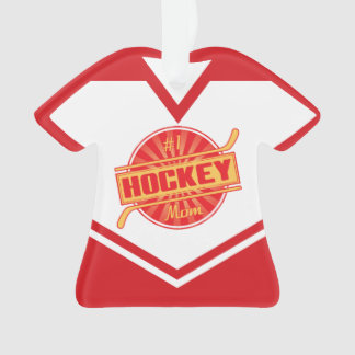 Name & Number Jersey Hockey Mom Ornament