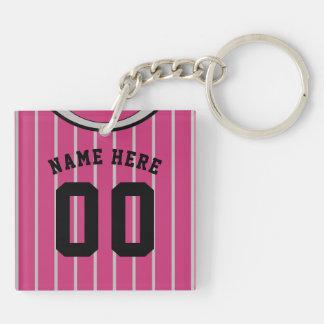 Name & Number Jersey Keyring, Baseball Softball Keychain