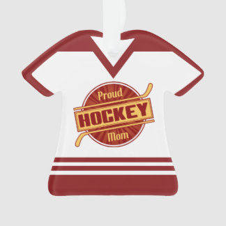 Name & Number Jersey Proud Hockey Mom Ornament