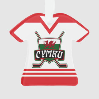Name & Number Jersey Wales Holiday Ornament