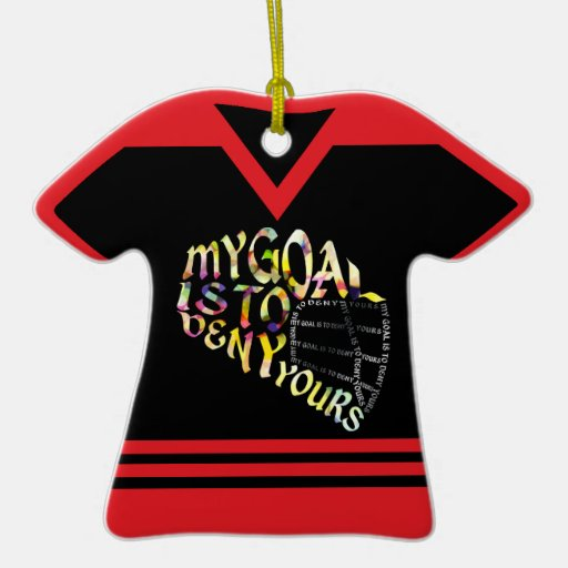 Name number personalized lacrosse goalie ornament zazzle for Personalized last name university shirts