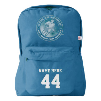 Name & Number Print Backpack Eat Sleep Play Hockey