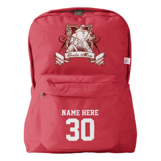 Name & Number Print Backpack Hockey Goalie Mom