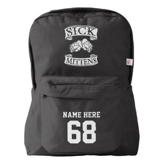 Name & Number Print Backpack Hockey Slang