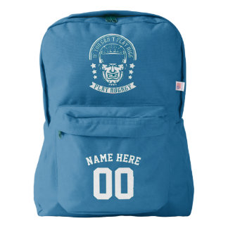 Name & Number Print Backpack Ice Hockey