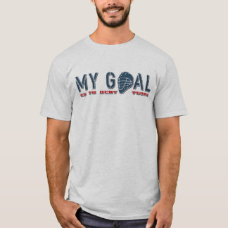 Name & Number Print Lacrosse Goalie Quote Shirsey T-Shirt