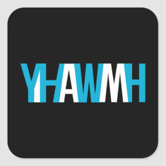 """Name of God - YHWH """"I AM"""" Square Sticker"""