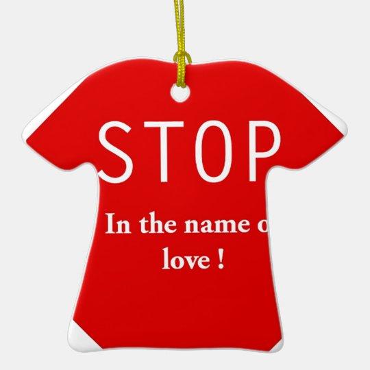 Name of Love Ceramic Ornament