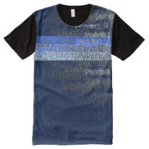 name or brand pattern All-Over-Print T-Shirt
