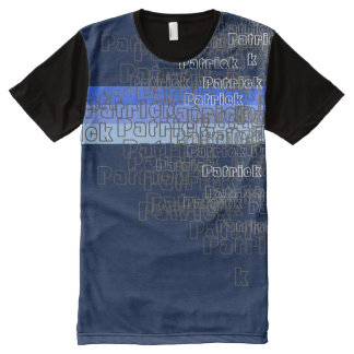 name or brand pattern All-Over print t-shirt