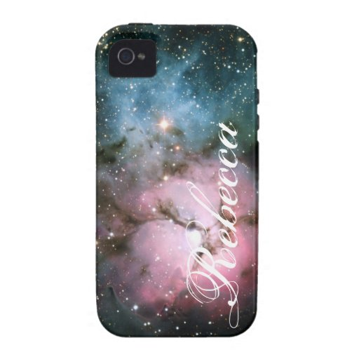 Name or initial nebula stars galaxy hipster space Case-Mate iPhone 4 covers