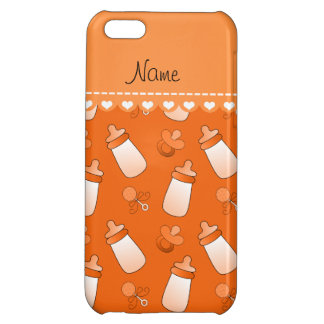Name orange baby bottle rattle pacifier iPhone 5C case
