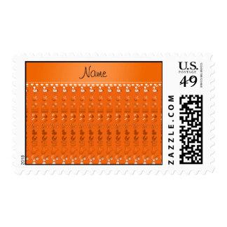Name orange baby bottle rattle pacifier stork postage