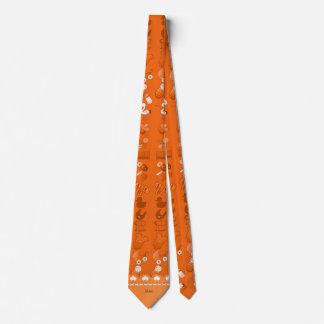 Name orange baby bottle rattle pacifier stork tie