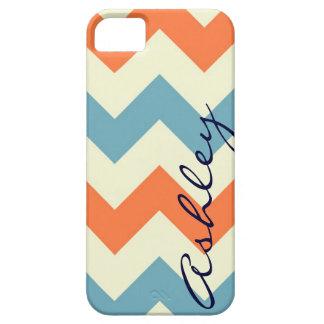 Name orange blue chevron zigzag zig zag pattern id iPhone SE/5/5s case