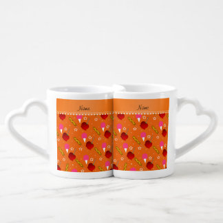 Name orange cotton candy apples corn dogs couples' coffee mug set
