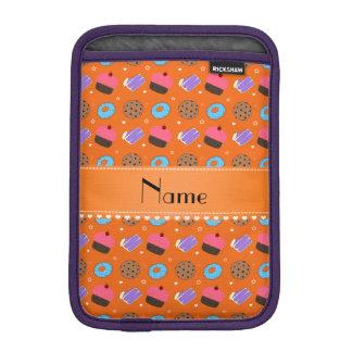 Name orange cupcake donuts cake cookies iPad mini sleeve