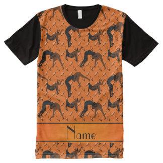 Name orange diamond steel plate wrestling All-Over print t-shirt