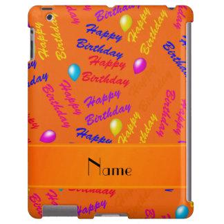 Name orange rainbow happy birthday balloons