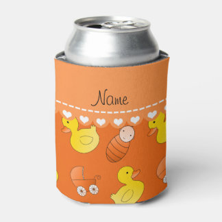 Name orange rubberduck baby carriage can cooler