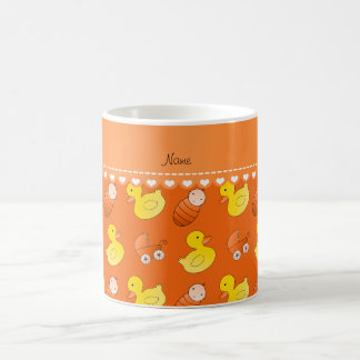 Name orange rubberduck baby carriage coffee mug