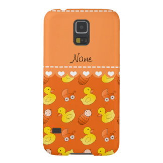 Name orange rubberduck baby carriage galaxy s5 cover