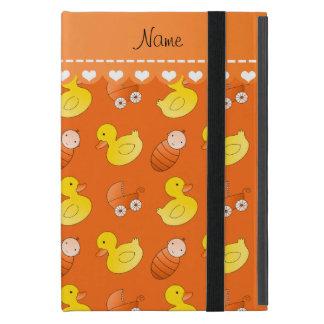 Name orange rubberduck baby carriage iPad mini cover