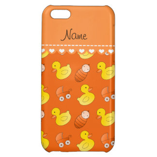 Name orange rubberduck baby carriage iPhone 5C cover