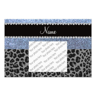 Name pastel blue glitter black leopard photograph