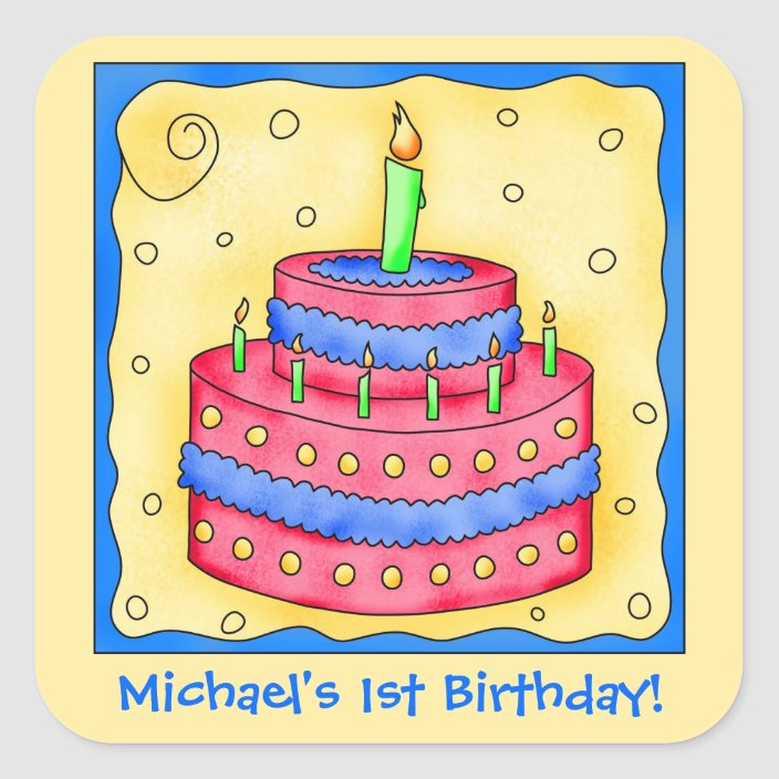 Happy Birthday Candles Hats Gifts Cakes Stickers Self Adhesive Card Making