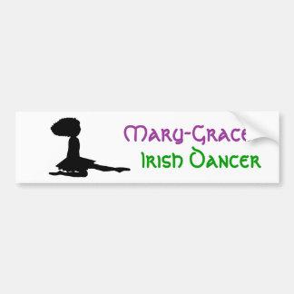 Name - PERSONALIZED - Irish Dance Bumper Sticker Car Bumper Sticker