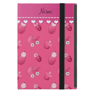 Name pink baby pin carriage pacifier iPad mini case