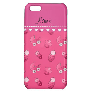 Name pink baby pin carriage pacifier iPhone 5C case