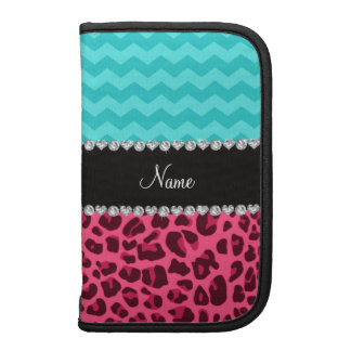 Name pink leopard turquoise chevrons organizers
