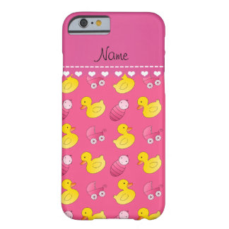 Name pink rubberduck baby carriage barely there iPhone 6 case