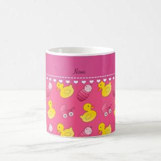 Name pink rubberduck baby carriage coffee mug