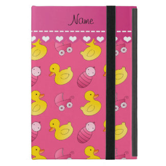 Name pink rubberduck baby carriage covers for iPad mini