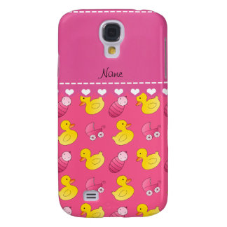 Name pink rubberduck baby carriage galaxy s4 cover