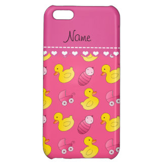 Name pink rubberduck baby carriage iPhone 5C cover