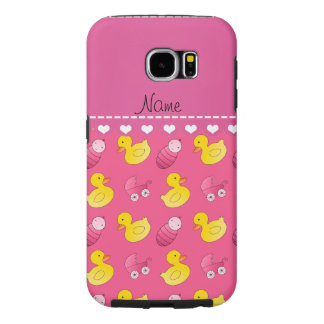 Name pink rubberduck baby carriage samsung galaxy s6 case