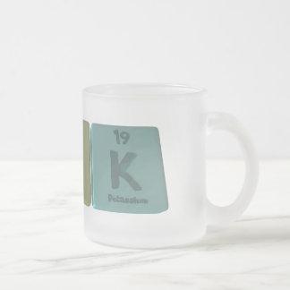 name-Pok-P-O-K-Phosphorus-Oxygen-Potassium Frosted Glass Coffee Mug