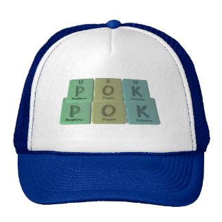 name-Pok-P-O-K-Phosphorus-Oxygen-Potassium Trucker Hats