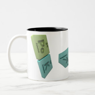 name-Pok-Po-K-Polonium-Potassium Two-Tone Coffee Mug
