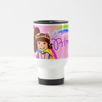 Name princess girls rainbow pink travel mug