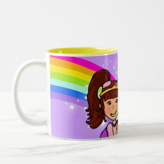 Name princess girls rainbow purple mug