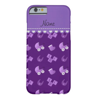 Name purple baby bib blocks carriage booties barely there iPhone 6 case